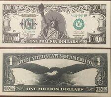 (10) One Million Dollar Bills Joke Money Fake Trick Novelty Funny Gag Gift Toy
