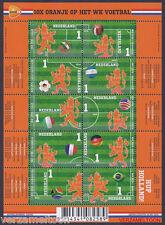NVPH V 3187a - 3196a 10 X ORANJE OP HET WK VOETBAL  2014 vel postfris 1e UITGAVE