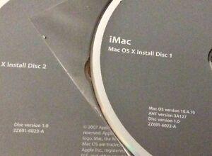 Genuine Apple Tiger 10.4.10 Operating Software for 2007 iMacs
