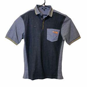 McDonalds Polo Shirt Employee Uniform Men's Small S Timeless Elements Gray Black