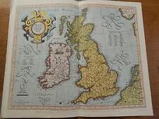 Reproduction Colour Map The British Isles - Mecators Atlas 1595 British Museum
