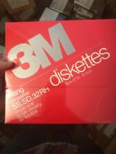 "10 Pack 3M 8"" Diskettes SS SD 32 RH Wang Compatible DC 051111 3m# 220 New Nos"