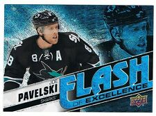2015-16 UPPER DECK OVERTIME FLASH OF EXCELLENCE BLUE RAINBOW JOE PAVELSKI 25/25