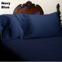 Luxurious 3 pc Duvet Set 1000TC Egyptian Cotton AU Emperor Solid/Stripe Color