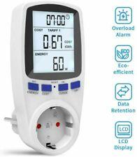 Energiekostenmessgerät Stromzähler Steckdose Wattmeter mit LCD-Display 3680W 16A