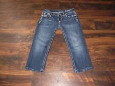 Women's Miss Me Signature Cuffed Capri Size 30 heavy stitch flap pockets MINT