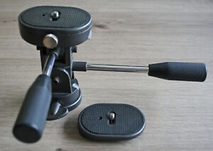 3 Wege Stativkopf * schwer Metall * Neiger * 2 Kameraplatten