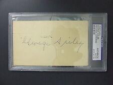 George Sisler Signed 1961 Postcard PSA/DNA Autograph St. Louis Browns HOF 1939