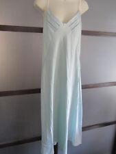 Jones New York Intimates Nightie Night Gown Blue Satin Medium Luxurious