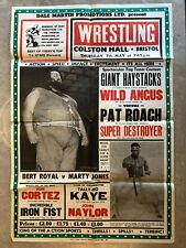 ORIGINAL 1981 WRESTLING POSTER 🤼 Giant Haystacks, Pat Roach, Bert Royal