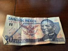 20 Pesos 6 May 1994 Serie K Prefix U Polymer Note