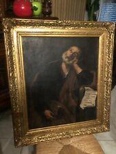 Huile sur toile ancienne vraiment exceptionnelle 79 cm sur 60 cm