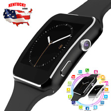 X6 Curved Screen Bluetooth Smart Watch Phone Mate For Samsung&Apple/Android&iOS
