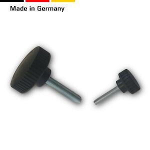 2 Rändelschrauben/Stellschrauben/Drehräder Griff 22mm, M5 M6 Kunststoff/Stahl