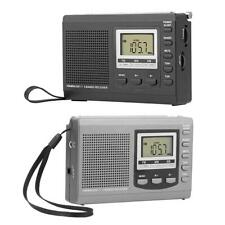 Digital Shortwave Radio FM/AM/SW Radio Receiver Alarm Clock+Earphone+ Cable #BU
