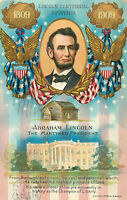 Postcard Abraham Lincoln, The Martyred President, Embossed, Posted 1910