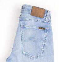 Nudie Jean Hommes Serré Long John Slim Jeans Extensible Taille W28 L32 AVZ871