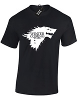 WINTER IS COMING WOLF MENS T SHIRT GAME OF TYRION THRONES KHALEESI DESIGN S -5XL