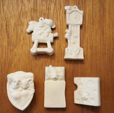 Alberta Nursery Rhyme Mice Ceramic Bisque Christmas Tree Ornaments Xmas Mouse