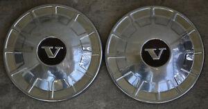 Factory original 1968 to 1972 Volvo 140 142 164 Dog Dish Hubcaps Wheel Hub Caps