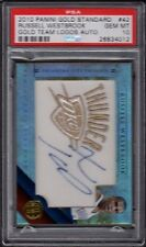 2010 Russell Westbrook Panini Gold Standard Gold Team Logos Auto Graded PSA 10