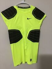 Nike Pro-combat Hyper-strong 3.0 Compression 4-Pad Football Shirt Neon Yellow Xl