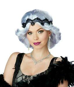 20s Glitz And Glamour Flapper Gatsby Grey Women's Costume Gray Wig & Headband