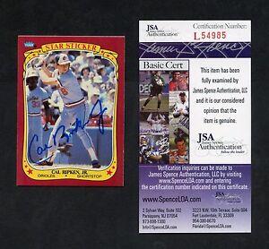 1986 Fleer #99 Cal Ripken Jr Baltimore Orioles HOF Signed JSA COA Autograph AUTO