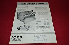 Ford Tractor 719 Reversible Rear Mounted Scoop Dealer's Brochure LCPA3