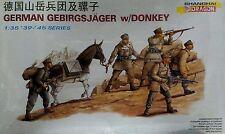 Dragon 1/35 6078 WWII German Gebirgsjager w/Donkey (5 Figures + 1 Donkey)