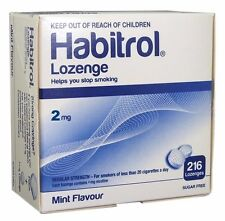 Habitrol Nicotine Lozenges 2 mg Mint Flavor (216 pieces, 1 box) New 07/2021