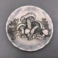 Wendell August Forge Mushroom Handmade Art Aluminum Coaster Plate