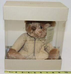 BURBERRY FRAGRANCES - TEDDY BEAR -WEARING TAN JACKET - WITH TAG -