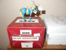 Trail of Painted Ponies BLUE MEDICINE HORSE ORNAMENT  FREE FAST INSURED SHIP!