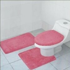 3 PIECE BATHROOM RUG, CONTOUR RUG AND LID COVER SET, HAILEY RUG SET, 18 COLORS