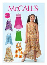 McCall's Sewing Pattern  M6948 SZ 7-14 Children's/Girls' Easy Pullover Dresses