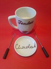 **Schokoladen Fondue** + 2 Fondue-Gabeln TOP! Teelicht-Funktion! Depot neuwertig