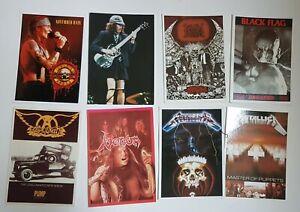 LOT DE 13 CARTES POSTALES HARD ROCK / METAL ♦ Metallica, Aerosmith, ac/dc ♦
