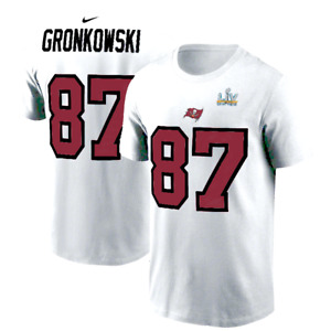 Rob Gronkowski Tampa Bay Buccaneers Super Bowl LV Nike Name & Number T-shirt New
