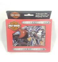 2003 HARLEY DAVIDSON Collectible Tin can & Cards Playing Cards 2 Pack Unopened