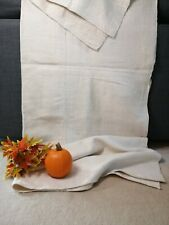 More details for vintage french linen bedspread handwoven minimalist upholstery bed cover / a20