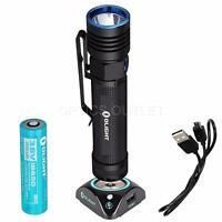 Olight S30R Baton III 1050 Lumens Rechargeable LED Flashlight w/ Battery & Dock
