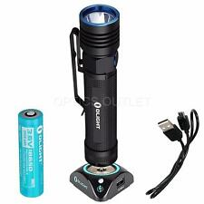 Olight S30R Baton III 1050 Lumens Rechargeable LED Flashlight w/ Battery & Dock