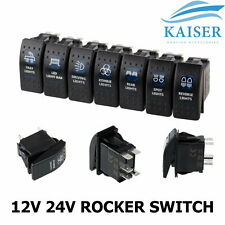 Rocker Switch ARB Carling Style LED ON-OFF Dual Backlit 4X4 4WD Boat Caravan