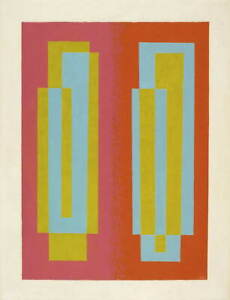Josef Albers Oscillating A Giclee Art Paper Print Paintings Poster Reproduction