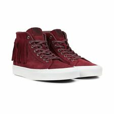 Vans Sk8 Hi Moc Suede Port Royale Burgundy Blanc Shoes Mens 5.5 Women 7 Moccasin