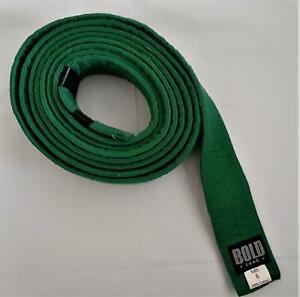 BOLD LOOK Martial Arts Belt Karate Taekwondo Jiu jitsu Judo - GREEN - Size 6
