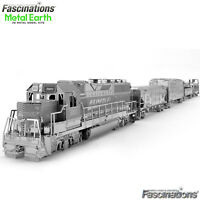 Metal Earth Freight Train 3D Laser Cut DIY Model Building Kit Puzzle Craft Set