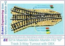 """EE 5214 New Maerklin Märklin Marklin HO """"M"""" Track 3-Way Turnout OBX original box"""