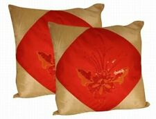 Oriental Silk Cushion Cover (RED)